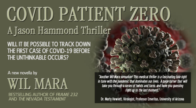 NEW JASON HAMMOND NOVELLA, 'COVID PATIENT ZERO', NOW AVAILABLE EXCLUSIVELY ON AMAZON